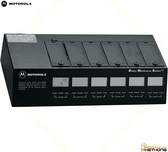 Bộ Sạc 6 hộc Motorola GP328/GP338 Kèm Phân Tích Pin